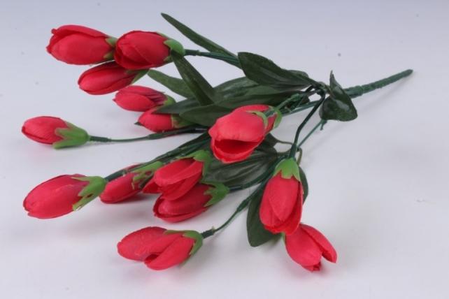 Искусственное растение - Крокус крупный красный 35 см Б10577