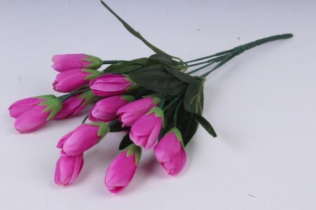 Искусственное растение - Крокус крупный малиновый 35 см Б10577