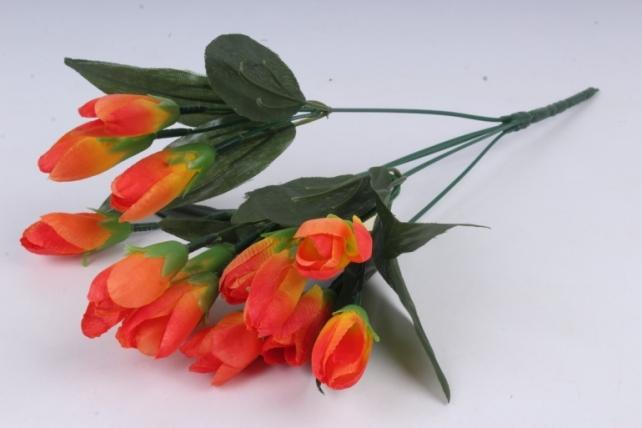 Искусственное растение - Крокус крупный оранжевый 35 см Б10577
