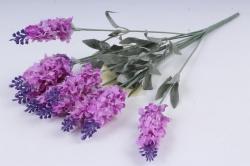 Искусственное растение - Лаванда горная 2-х цветная сиренево-фиолетовая 40 см Б10349