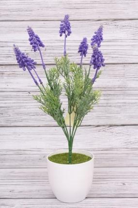 Искусственное растение - Лаванда с туей. 35.5см.