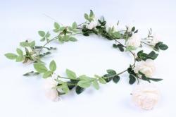 Искусственное растение - Лиана с пионами белыми Н= 2м Тцк
