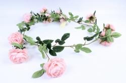 Искусственное растение - Лиана с пионами розовыми Н= 2м Тцк
