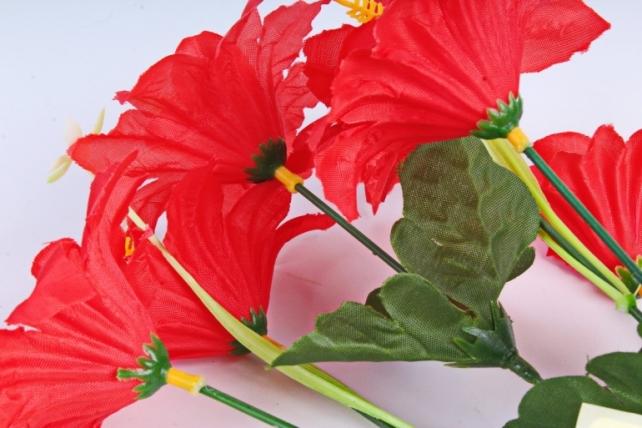 Искусственное растение - Лилейник красный
