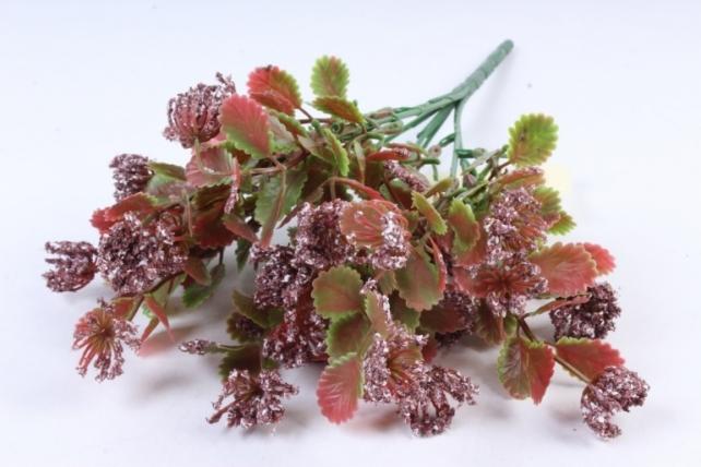 Искусственное растение - Листики декоративные бордо