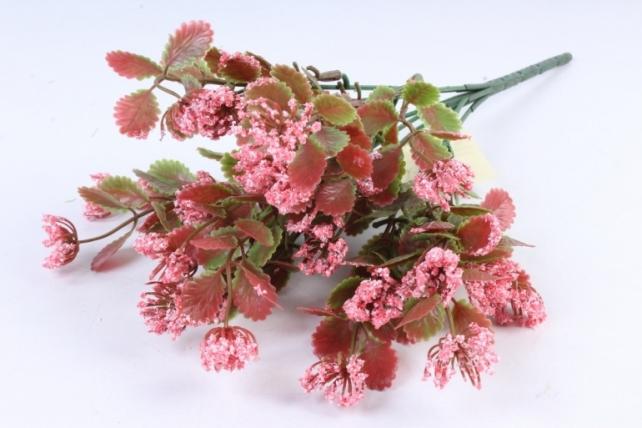 Искусственное растение - Листики декоративные розовый