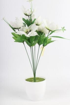 Искусственное растение - Лотос белый Н=48 см Б11068