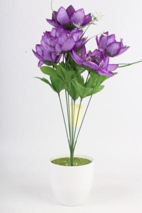 Искусственное растение - Лотос фиолетовый Н=48 см Б11068