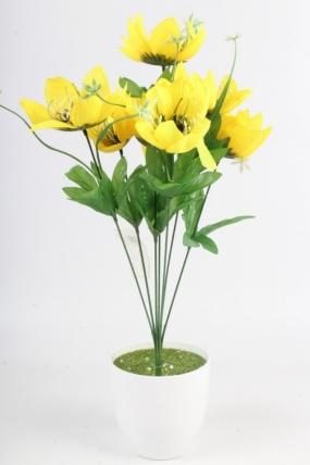 Искусственное растение - Лотос жёлтый Н=48 см Б11068