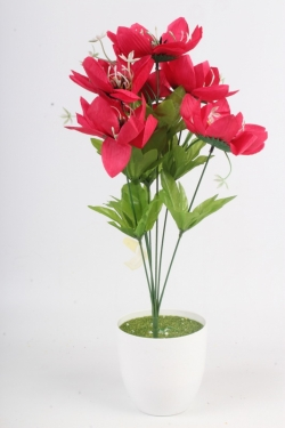 Искусственное растение - Лотос малиновый Н=48 см Б11068