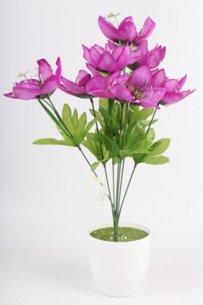 Искусственное растение - Лотос сиреневый Н=48 см Б11068