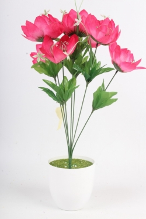 Искусственное растение - Лотос ярко-розовый Н=48 см Б11068
