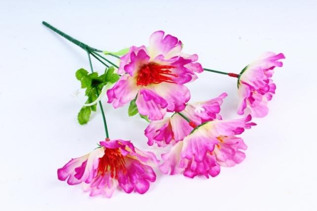 Искусственное растение - Маки бело-сиреневые 30 см
