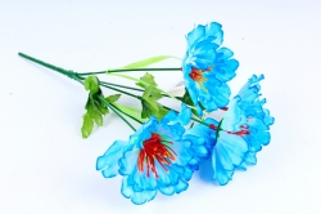 Искусственное растение - Маки голубые