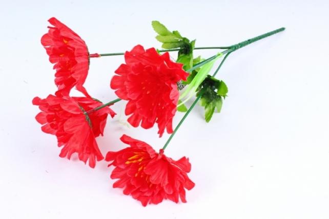 Искусственное растение - Маки красные