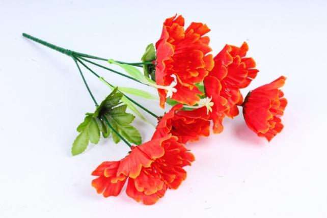 Искусственное растение - Маки оранжевые