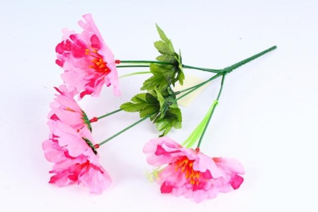 Искусственное растение - Маки розовые