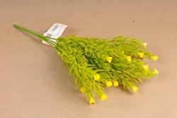 Искусственное растение - Можжевельник  розочками жёлтый Б10887