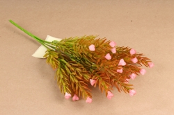 Искусственное растение - Можжевельник  розочками розовый Б10887
