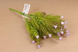 Искусственное растение - Можжевельник  розочками сиреневый Б10887