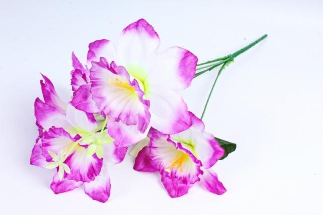Искусственное растение - Нарциссы бело-сиреневые