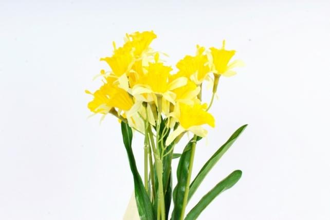 Искусственное растение - Нарциссы жёлто-лимонные