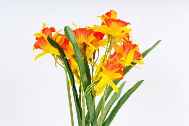 Искусственное растение - Нарциссы оранжево-жёлтые