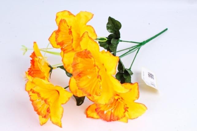 Искусственное растение - Нарциссы оранжевые