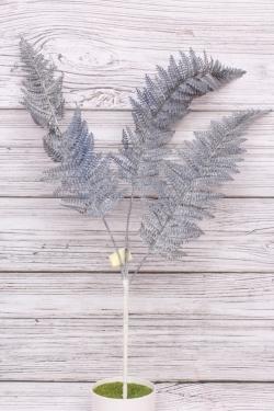 Искусственное растение - Папоротник шелковистый серый Н=70 см В10909