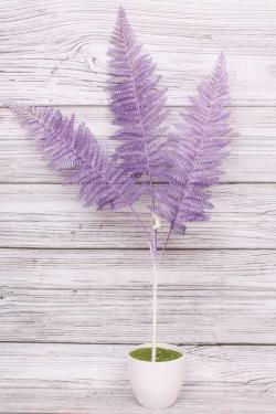 Искусственное растение - Папоротник шелковистый сиреневый Н=70 см В10909
