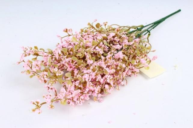 Искусственное растение - Пастушья сумка Пастель розовая
