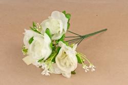 Искусственное растение - Пиончики  белые Б10731