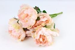 Искусственное растение - Пионы Акварель без декора жёлто-розовый