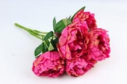 Искусственное растение - Пионы Акварель без декора малиновый