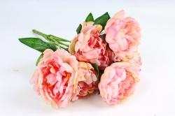 Искусственное растение - Пионы Акварель без декора персиковый