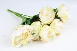 Искусственное растение - Пионы Акварель без декора шампань