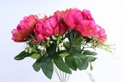 Искусственное растение - Пионы Акварель малиновые