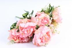Искусственное растение - Пионы Акварель персиковые