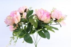 Искусственное растение - Пионы Акварель розовые