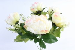 Искусственное растение - Пионы Акварель шампань