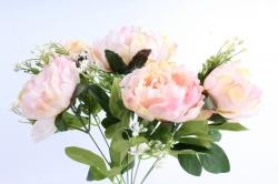 Искусственное растение - Пионы Акварель светло-розовые