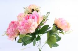 Искусственное растение - Пионы Акварель ярко-розовые
