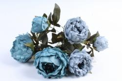 Искусственное растение - Пионы бирюзовые
