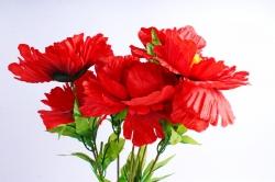 Искусственное растение - Пионы красные