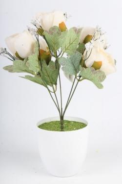 Искусственное растение - Пионы Мелодия кремовые Н=34 см Б11083