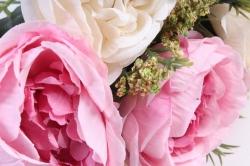 Искусственное растение - Пионы Ретро шампань/розовый