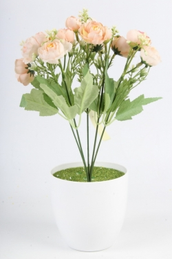 Искусственное растение - Пионы садовые персиковыеН=33 см Б11066