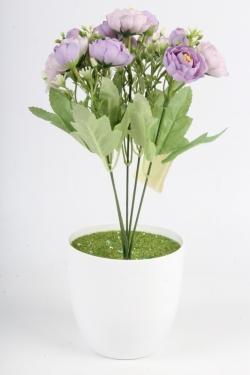 Искусственное растение - Пионы садовые сиреневые Н=33 см Б11066