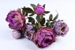 Искусственное растение - Пионы сиренево-фиолетовые