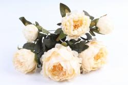 Искусственное растение - Пионы ваниль